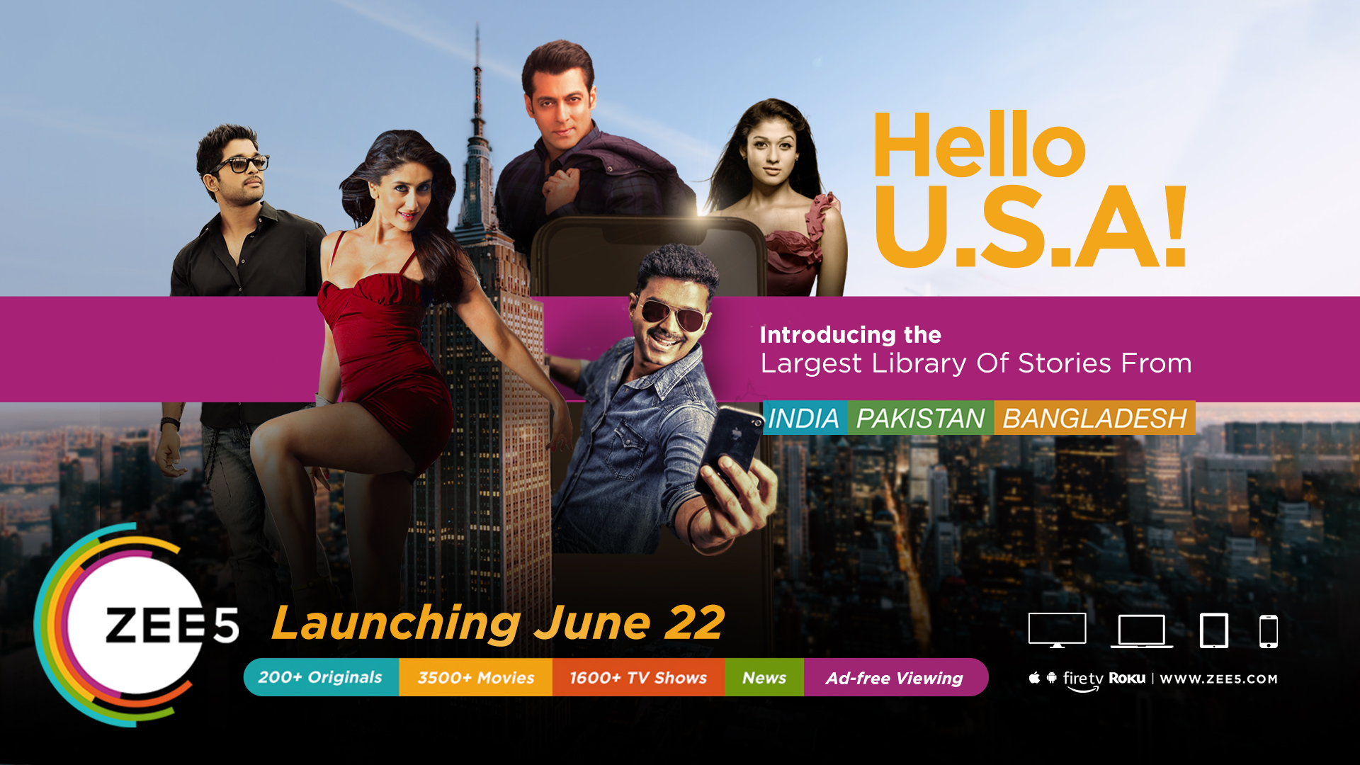 ZEE5 to launch in US on June 22